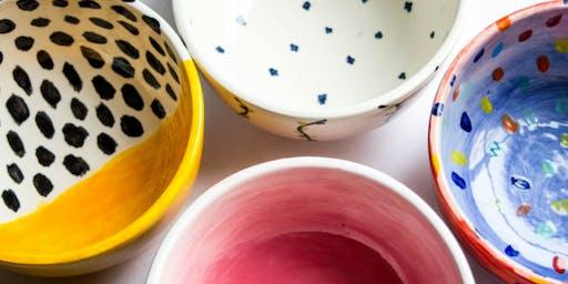 Super Bowl: Ceramic Bowl Customization - Las Vegas Fashion Show