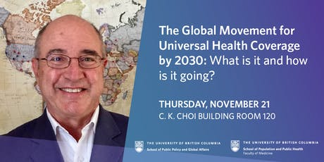 The Global Movement for Universal Health Coverage by 2030 tickets