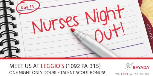 Join Us for Nurses Night Out at Leggio's!