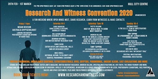 Research And Witness Convention 2020
