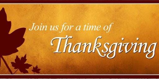 Thanksgiving Service CornBread and Cider