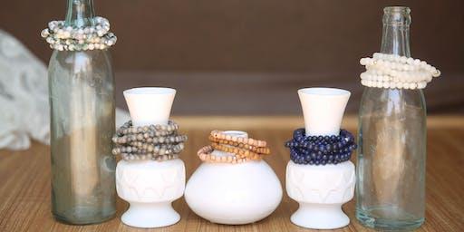 Custom Gemstone + Initial Bracelet Workshop with Be Free Creations