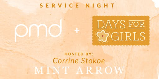 PMD Beauty x Days for Girls hosted by Corrine Stokoe of @mintarrow