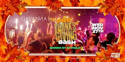 Pre-Thanksgiving Bash @Gavanna