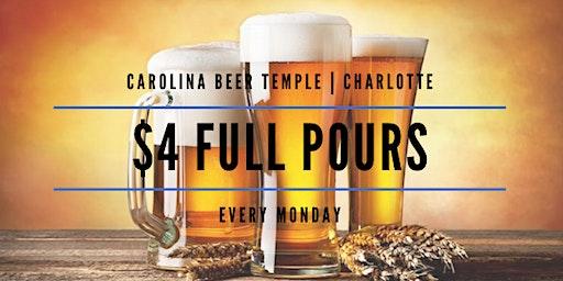 $4 Full Pour Mondays