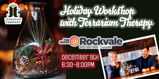 Holiday Decanter Terrarium Workshop at The Shops at Rockvale