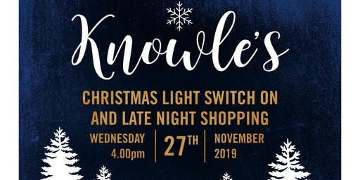 Knowle Christmas Lights Switch On and Late Night Shopping Event