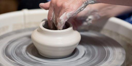 Pottery: Intro to Wheel Throwing (Thursdays)