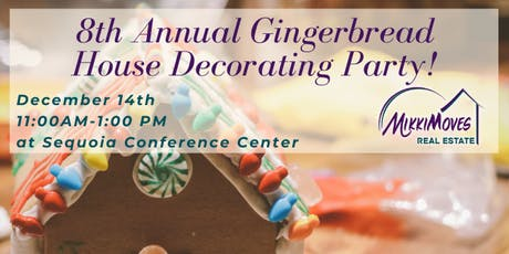MikkiMoves Eureka's 8th Annual Gingerbread House Decorating Party tickets