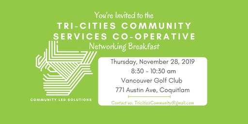 Tri-Cities Community Services Co-operative Breakfast | Nov 2019