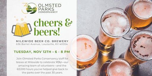 Cheers & Beers - Olmsted Parks Conservancy Volunteer Appreciation Event