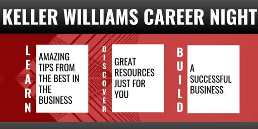 Keller Williams Realty Partners hosts Career Night! Discover your new path! 11/20/19!