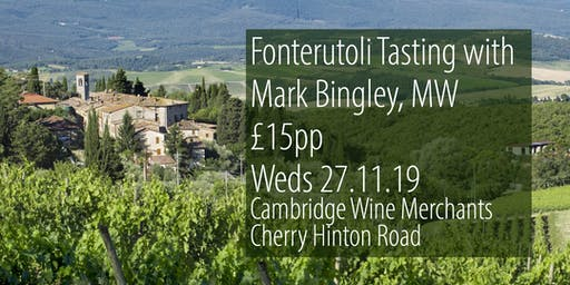 Fonterutoli Tasting with Master of Wine, Mark Bingley