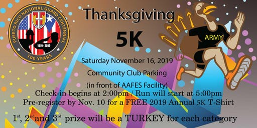5K Thanksgiving  Fun Run