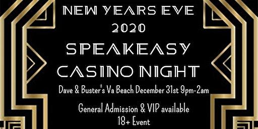 Dave & Buster's Va Beach New Years Eve 2020 Speakeasy Casino Night
