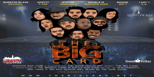 The BIG Card|Dec 14| Houston Bar Code x GoodFellas