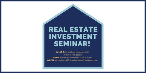 LEARN THE INS & OUTS OF REAL ESTATE INVESTING!