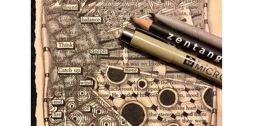 Zentangle: Found Poetry  (2019-12-15 starts at 2:00 PM)