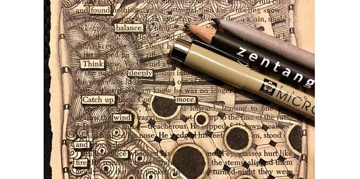 Zentangle: Found Poetry  (12-15-2019 starts at 2:00 PM)