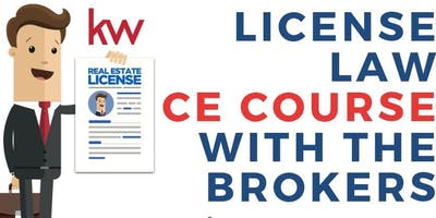 3 HR CE License Law Class with The Brokers