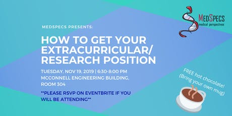 How to Get Your Extracurricular/Research Position tickets