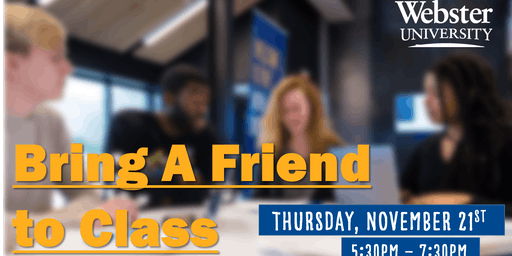 Webster University's Bring A Friend to Class Day