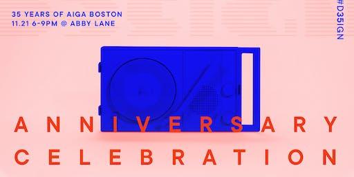 AIGA Boston 35th Anniversary Celebration
