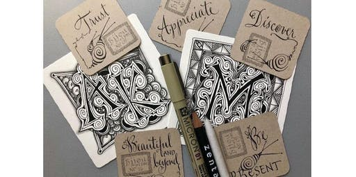 Zentangle: Zenbedded Letters (2020-03-01 starts at 2:00 PM)