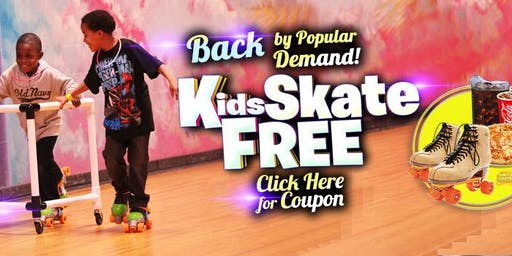 Kids Skate Free on Saturday 11/23/19 at 10am