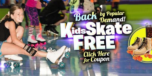 Kids Skate Free Saturday 11/23/19 at 10am (with this ticket)