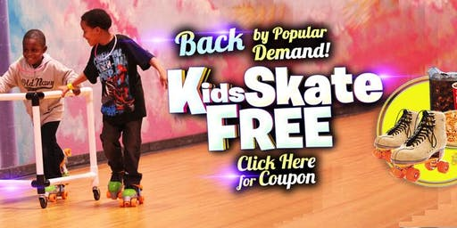 Kids Skate Free Saturday 11/16/19 at 12pm (with this ticket)