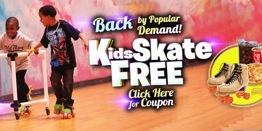 Kids Skate Free Saturday 11/23/19 at 12pm (with this ticket)