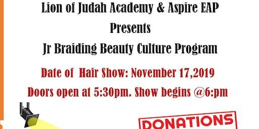 Lion of Judah Academy & Aspire EAP Presents Jr Braiding Beauty Culture Program