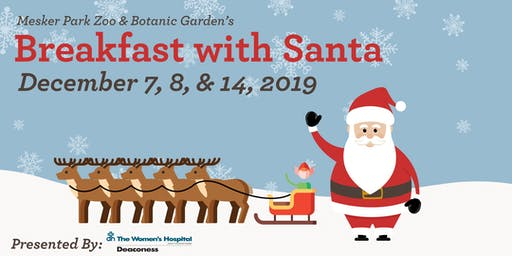 Mesker Park Zoo Breakfast with Santa 2019