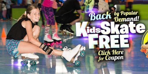Kids Skate Free Saturday 11/16/19 at 10am (with this ticket)