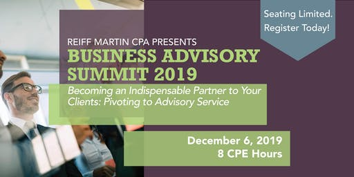 Business Advisory Summit 2019:  Pivoting to Client Advisory Services