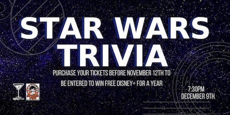 Star Wars Trivia - Dec 9, 7:30pm - Garbonzo's Sports Pub  tickets