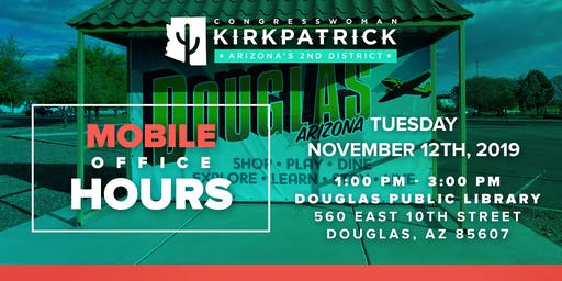 Rep. Kirkpatrick Mobile Office Hours - Get Help with a Federal Agency