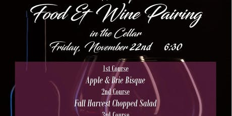 Holiday Food & Wine Pairing tickets