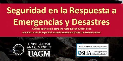 Seguridad en la Respuesta a Emergencias y Desastres