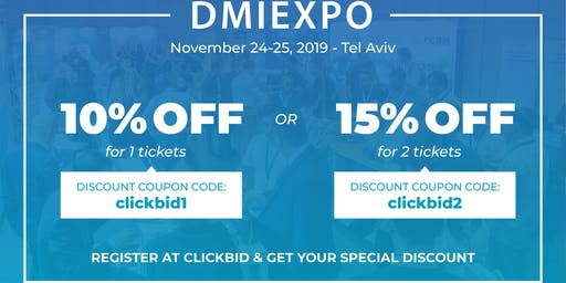 Dmiexpo 2019 - 15% OFF!