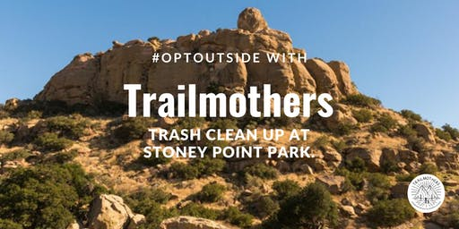 #OPTOUTSIDE with Trailmothers for a Trash Clean Up
