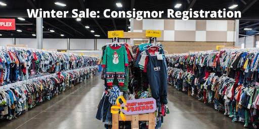 Winter Sale: Consignor Registration
