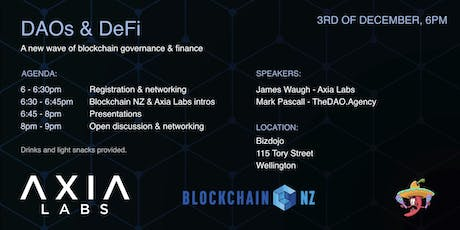 Decentralized Finance & Governance - New ways to Coordinate Society (WLG) tickets