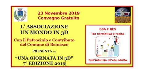 """""""UNA GIORNATA IN 3D"""" 7° EDIZIONE 2019 biglietti"""