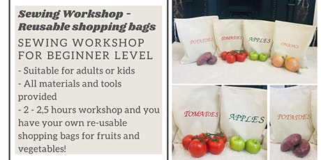 Sewing Class / Workshop – Reusable Eco-friendly Calico Shopping bags tickets