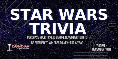 Star Wars Trivia - Dec 10, 7:30pm - Red Deer CBH tickets