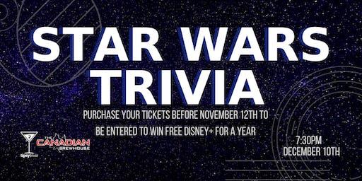 Star Wars Trivia - Dec 10, 7:30pm - Red Deer CBH