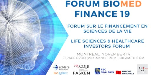 BIOMED FINANCE 2019, Montreal Life Sciences Investors Forum