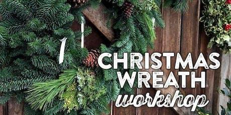 "Fresh Wreath Making Workshop - 16"" $50 or 22"" $75 (+tax) tickets"